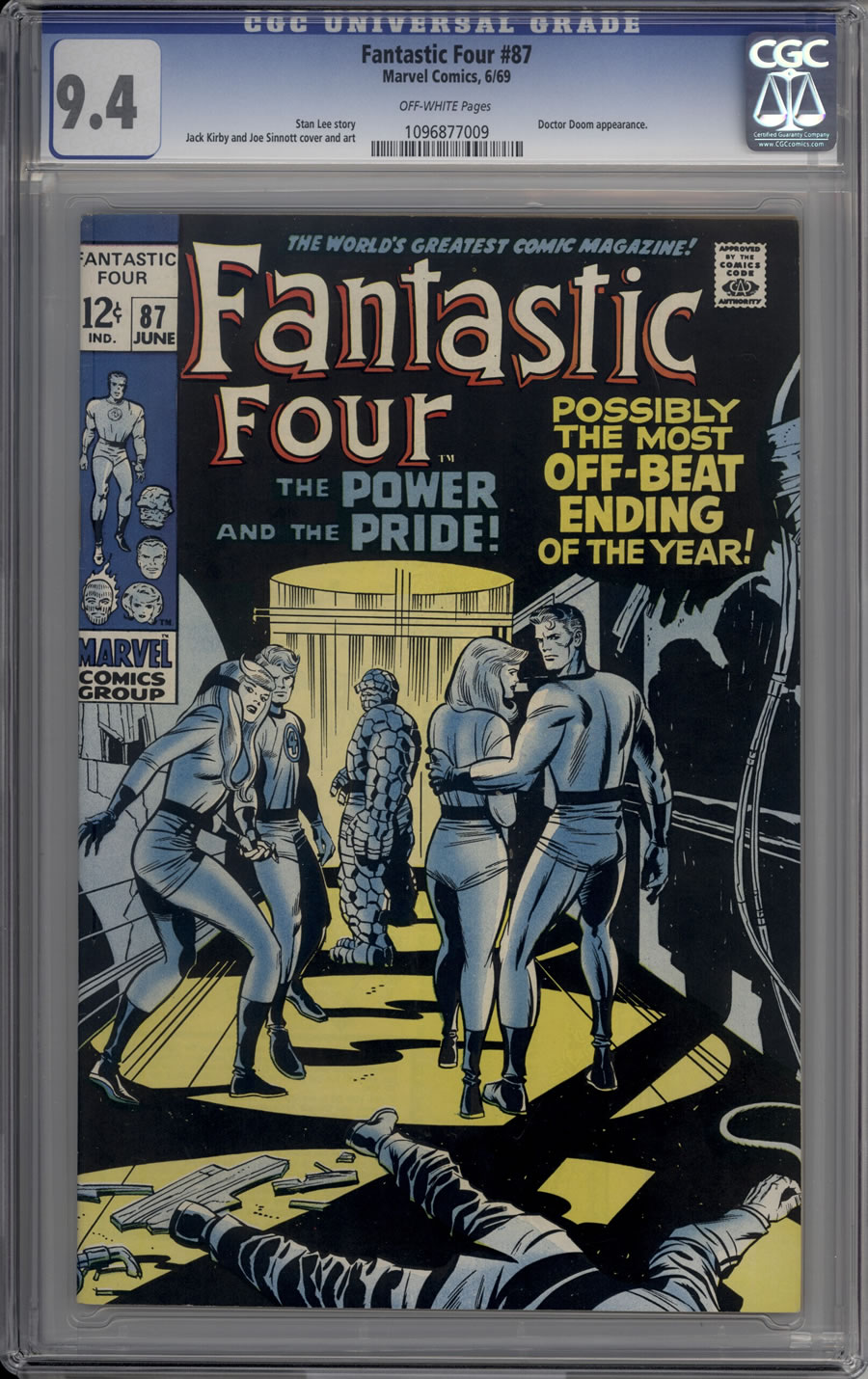 FANTASTIC FOUR # 87, 9.4 NM CGC