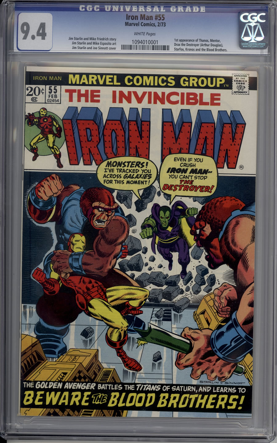 IRON MAN # 55, 9.4 NM CGC