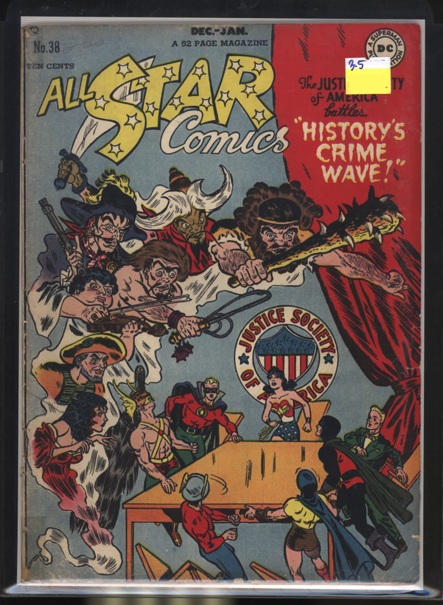 ALL-STAR COMICS # 38, 3.5 VG -