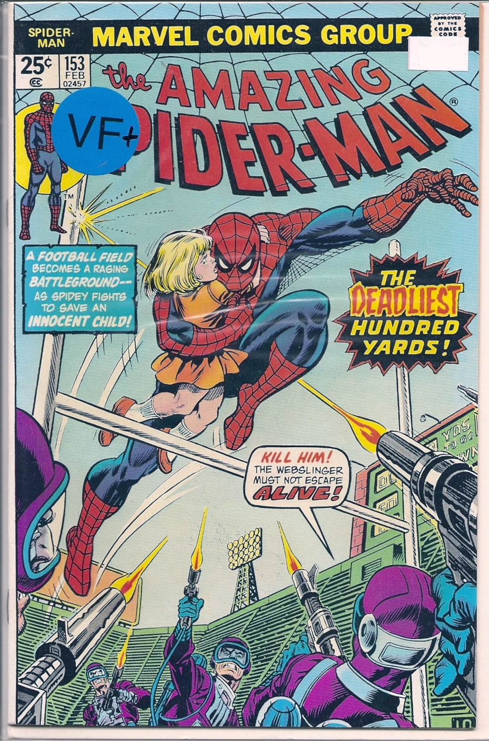 Amazing Spider-Man # 153, 8.5 VF +